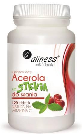 Aliness Acerola ze Stevią 120 tabletek do ssania