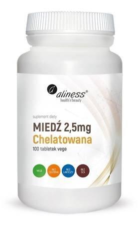 Aliness Miedź Chelatowana 2,5 mg 100 tabletek vege