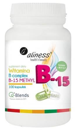 Aliness Witamina B Complex B-15 Methyl 100 kapsułek vege