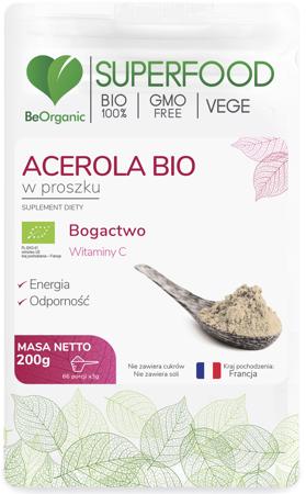 BeOrganic Acerola BIO 200 g proszek