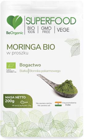 BeOrganic Moringa BIO 200 g proszek