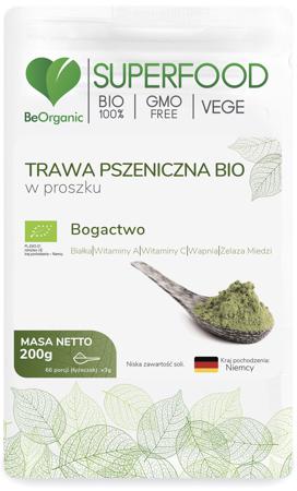 BeOrganic Trawa pszeniczna BIO 200 g proszek