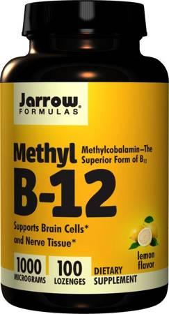 Jarrow Formulas Methyl B-12 1000 mcg Lemon 100 tabletek do ssania