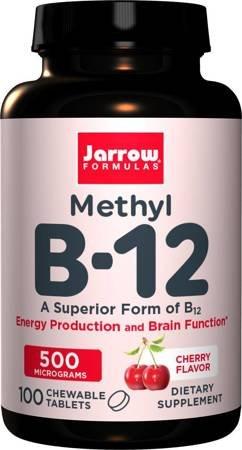 Jarrow Witamina B12 Methyl 500 mcg 100 tabletek do ssania
