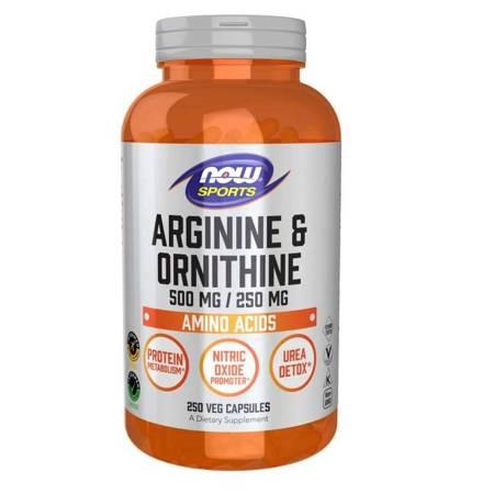 Now Foods Arginina i Ornityna 250 kapsułek