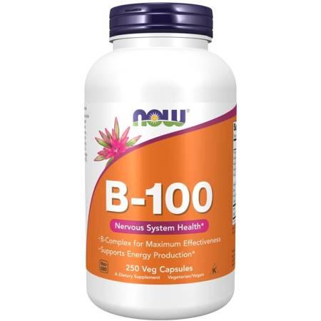 Now Foods B-100 Witamina B Complex 250 veg kapsułek