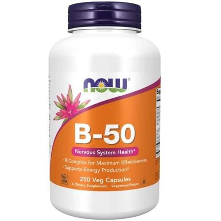 Now Foods B-50 Witamina B Complex 250 veg kapsułek