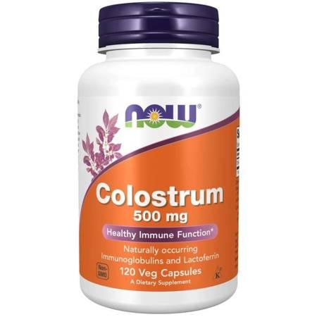 Now Foods Colostrum 500 mg 120 kapsułek