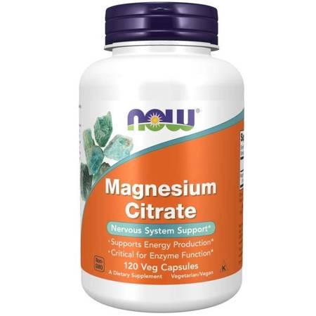 Now Foods Cytrynian Magnezu 120 kapsułek