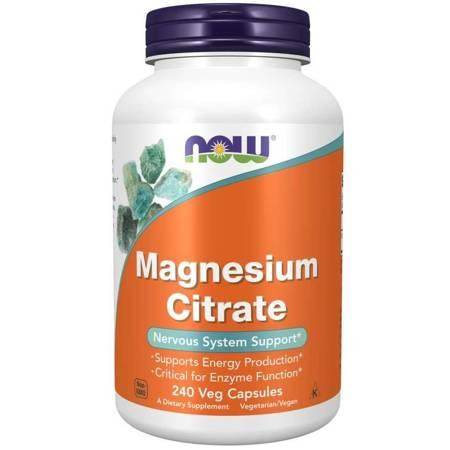 Now Foods Cytrynian Magnezu 240 kapsułek