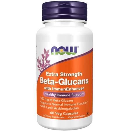 Now Foods Extra Strength Beta Glucans 60 kapsułek