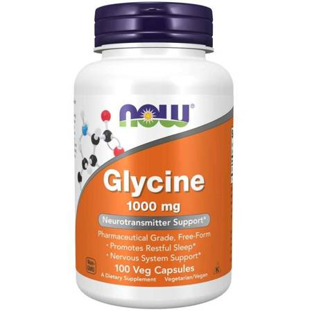 Now Foods Glicyna 1000 mg 100 veg kapsułek