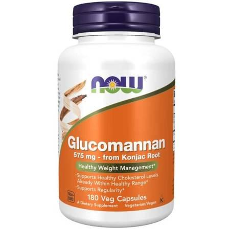 Now Foods Glucomannan 575 mg 180 kapsułek