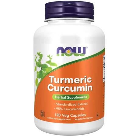 Now Foods Kurkuma (Turmeric) 665 mg 120 kapsułek