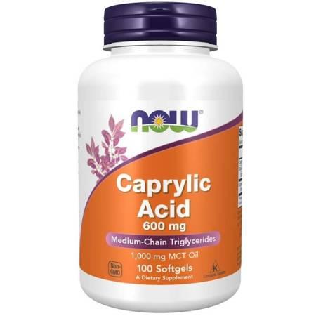 Now Foods Kwas Kaprylowy 600 mg 100 kapsułek
