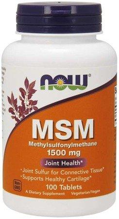 Now Foods MSM Metylosulfonylometan 1500 mg 100 tabletek