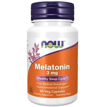 Now Foods Melatonina 3 mg 60 kapsułek