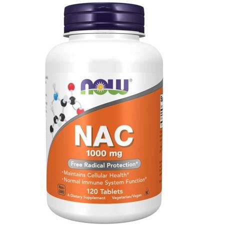 Now Foods N-Acetylo Cysteina (NAC) 1000 mg 120 tabletek