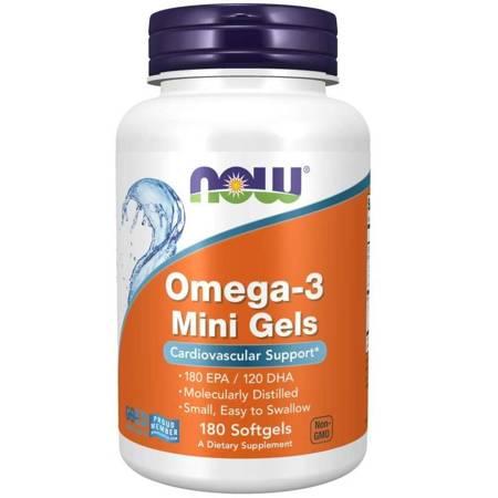 Now Foods Omega-3 Mini Gels 180 kapsułek