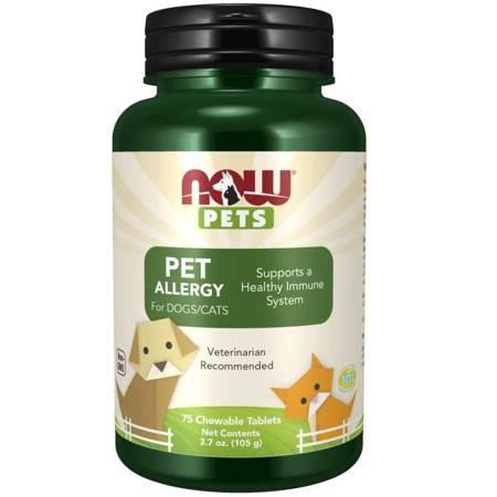 Now Foods Pets Pet Allergy Dogs Cats 75 tabletek