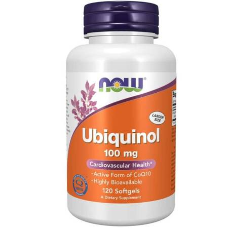 Now Foods Ubiquinol Koenzym Q10 100 mg 120 kapsułek