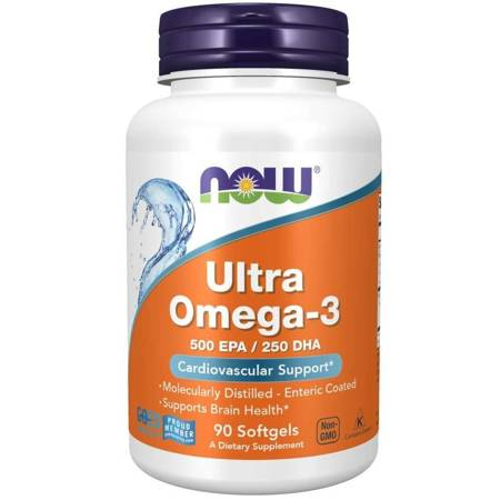 Now Foods Ultra Omega-3 500 EPA / 250 DHA 90 kapsułek