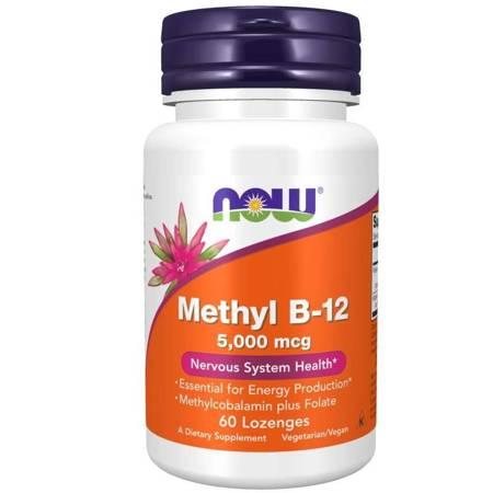 Now Foods Witamina B12 5000 mcg Methyl 60 tabletek do ssania