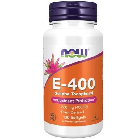 Now Foods Witamina E-400 (d-alfa-Tokoferyl) 100 kapsułek