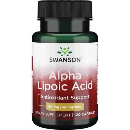 Swanson ALA Kwas Alfa Liponowy 50 mg 120 kapsułek