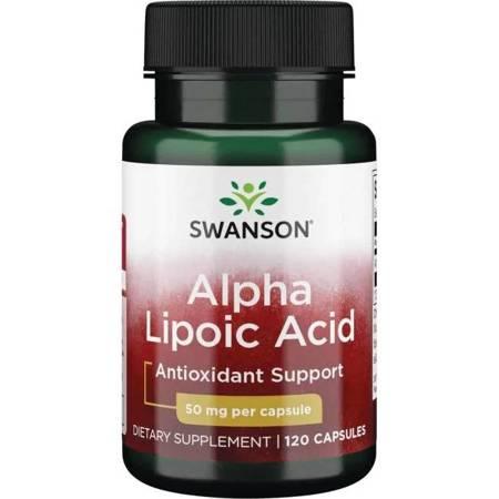 Swanson ALA Kwas Alfa Liponowy 50 mg 120 kapsułek KRÓTKA DATA 31.12.2021