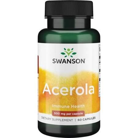 Swanson Acerola 500 mg 60 kapsułek