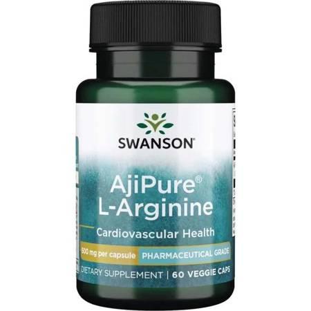 Swanson AjiPure L-Arginina 500 mg 60 kapsułek
