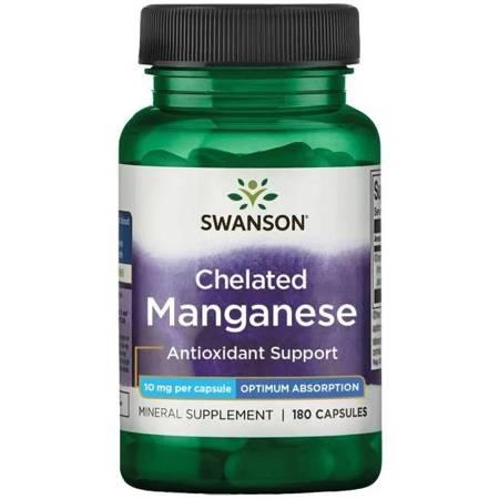 Swanson Albion Chelat Mangan 10 mg 180 kapsułek