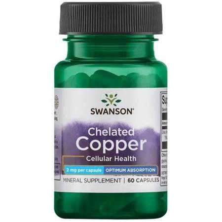 Swanson Albion Chelat Miedź 2 mg 60 kapsułek