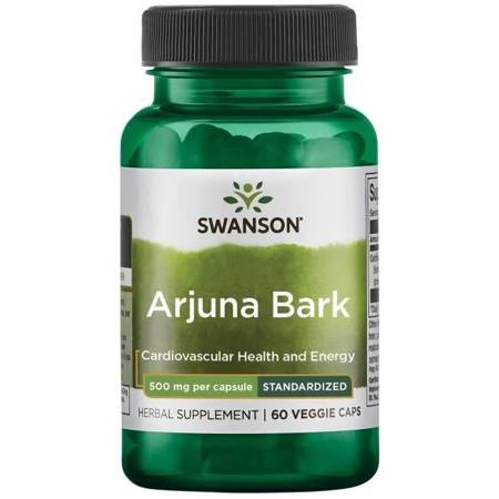Swanson Arjuna Ekstrakt 500 mg 60 kapsułek