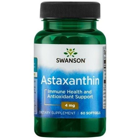 Swanson Astaksantyna (Astaxanthin) 4 mg 60 kapsułek