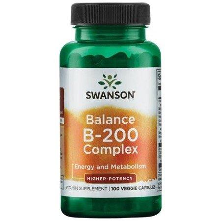 Swanson Balance B-200 Witamina B Complex 100 kapsułek