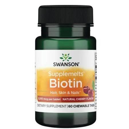 Swanson Biotyna 60 tabletek do ssania