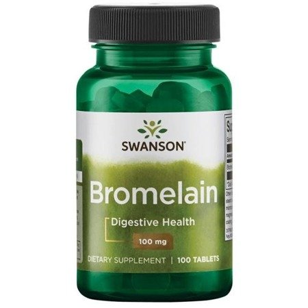Swanson Bromelaina 100 mg 100 tabletek