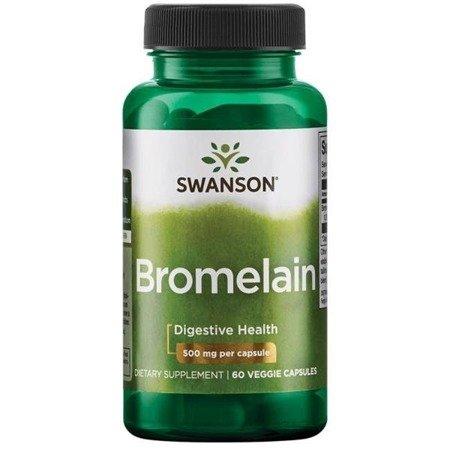 Swanson Bromelaina 500 mg 60 kapsułek