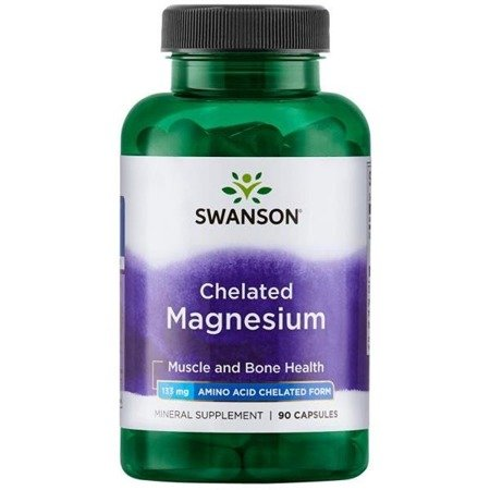 Swanson Chelat Magnezu 133 mg 90 kapsułek