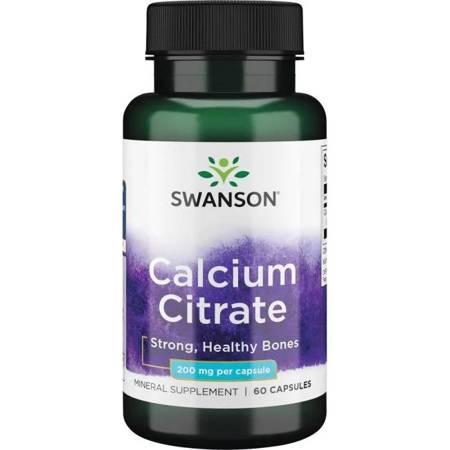 Swanson Cytrynian Wapnia 200 mg 60 kapsułek