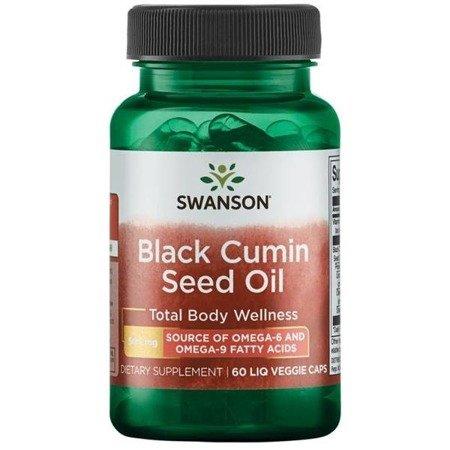 Swanson Czarny Kmin (Black Cumin) Olej 500 mg 60 kapsułek