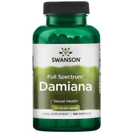 Swanson Damiana 510 mg 100 kapsułek
