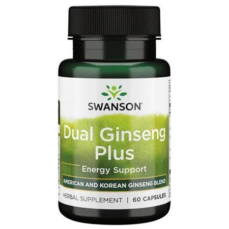 Swanson Dual Ginseng Plus 60 kapsułek