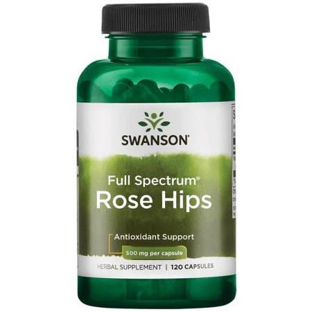 Swanson Dzika Róża 500 mg 120 kapsułek
