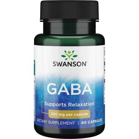 Swanson GABA (Kwas Gamma Aminomasłowy) 250 mg 60 kapsułek