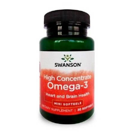 Swanson High Concentrate Omega-3 30 kapsułek