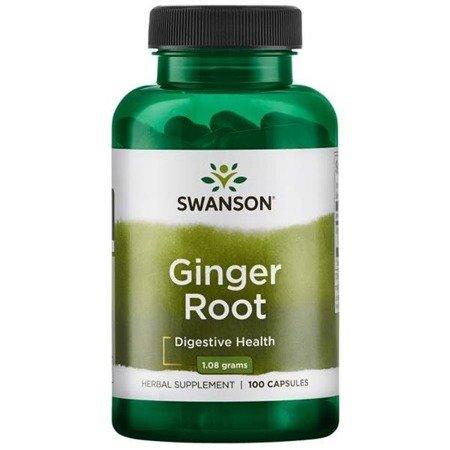 Swanson Imbir (Ginger Root) 540 mg 100 kapsułek