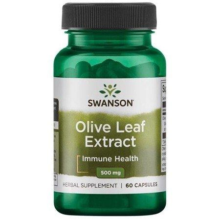 Swanson Liść Oliwny (Olive Leaf) Extract 500 mg 60 kapsułek
